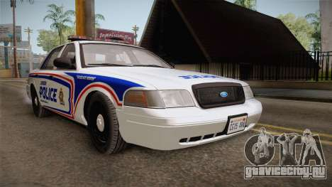 Ford Crown Victoria 2010 London, Ontario PD для GTA San Andreas