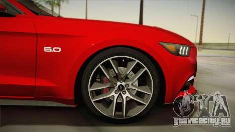 Ford Mustang GT 2015 5.0 для GTA San Andreas вид сзади слева