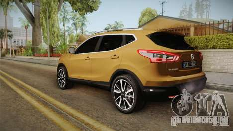 Nissan Qashqai 2016 IVF для GTA San Andreas вид слева