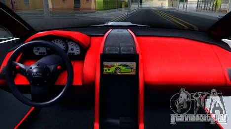 Aston Martin Vantage V8 для GTA San Andreas вид изнутри