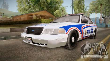 Ford Crown Victoria 2010 London, Ontario PD для GTA San Andreas вид сзади слева