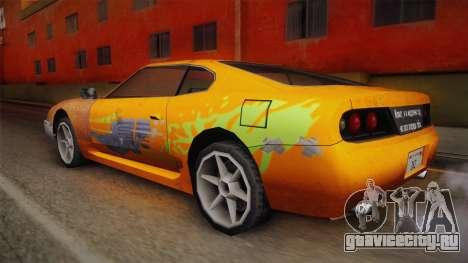 Jester PJ Old Supra F&F для GTA San Andreas вид слева
