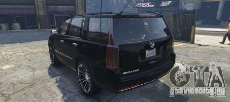Cadillac Escalade FBI для GTA 5 вид слева