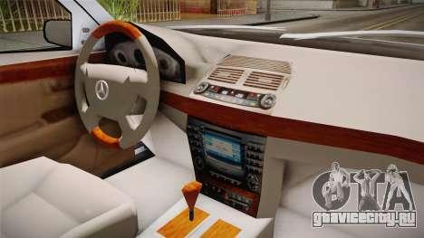 Mercedes-Benz E500 Iranian Police для GTA San Andreas вид сзади