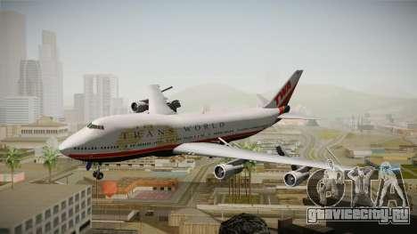 Boeing 747 TWA Final Livery для GTA San Andreas