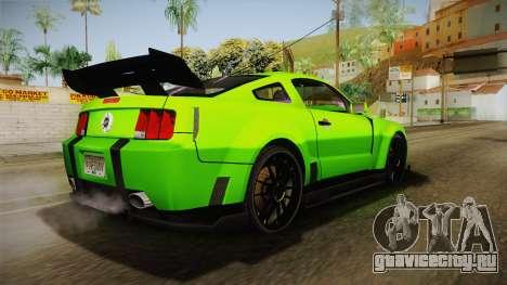 Ford Mustang NFS Green для GTA San Andreas вид слева