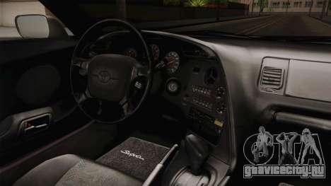Toyota Supra Cabrio для GTA San Andreas вид изнутри