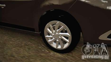Renault Fluence 2016 для GTA San Andreas вид сзади