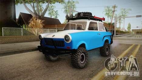 Trabant 601 4x4 Off Road для GTA San Andreas вид сзади слева