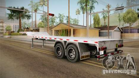 American Flatbed (Multiple) Trailer для GTA San Andreas вид слева