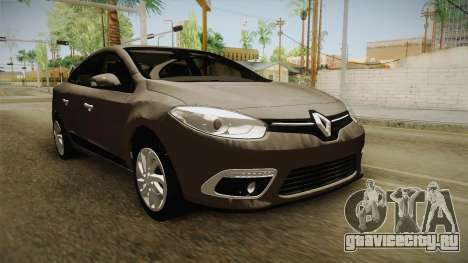 Renault Fluence 2016 для GTA San Andreas вид справа