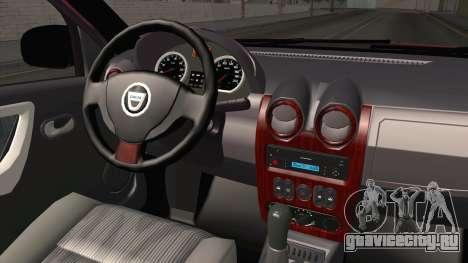 Dacia Duster Offroad для GTA San Andreas вид изнутри
