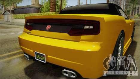 GTA 5 Bravado Buffalo 2-doors Cabrio IVF для GTA San Andreas вид снизу