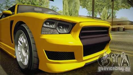 GTA 5 Bravado Buffalo 2-doors Cabrio IVF для GTA San Andreas вид сбоку