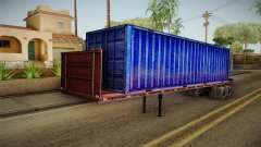 Blue Trailer Container HD
