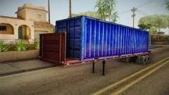 Blue Trailer Container HD для GTA San Andreas