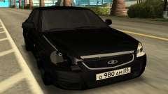LADA PRIORA чёрный для GTA San Andreas