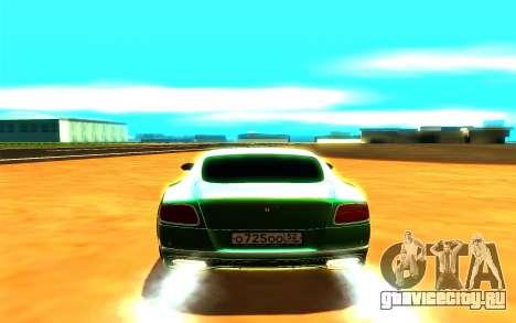 Bentley Continental GT для GTA San Andreas вид сзади