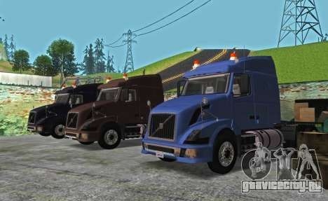 VOLVO VNL 630 для GTA San Andreas вид сзади слева