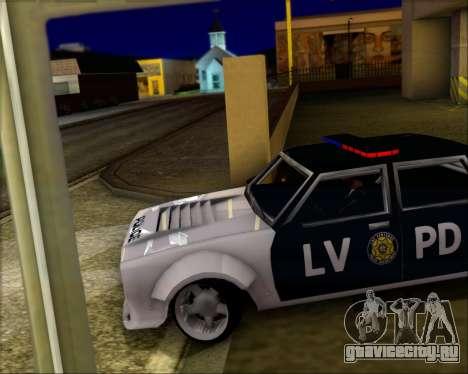 LVPD Drift Project для GTA San Andreas вид изнутри