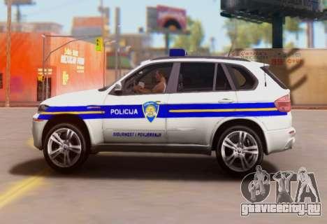 BMW X5 Croatian Police Car для GTA San Andreas вид слева
