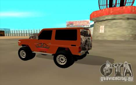Toyota Land Cruiser для GTA San Andreas вид слева