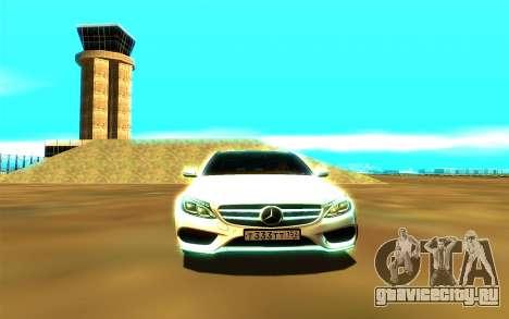 Mercedes-Benz C250 для GTA San Andreas вид сзади