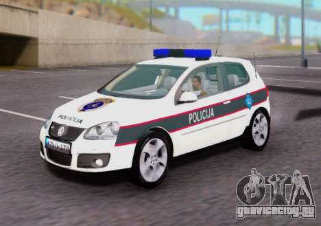 Volkswagen Golf V BIH Police Car для GTA San Andreas