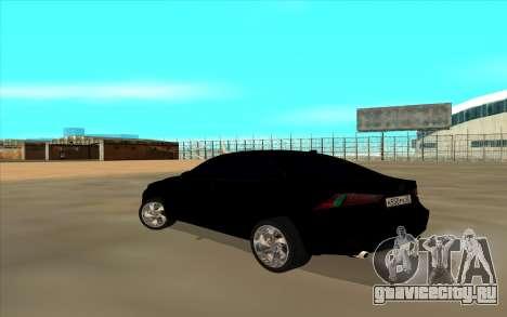 Lexus LS для GTA San Andreas вид сзади слева