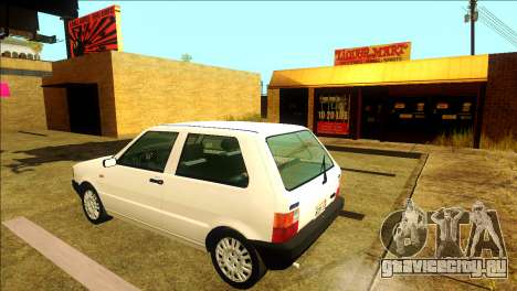 Fiat Uno Mille 1995 для GTA San Andreas вид сзади слева