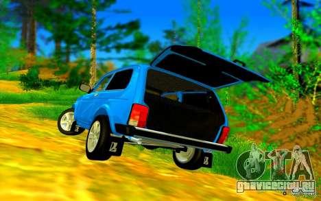 VAZ 2121 GVR для GTA San Andreas вид изнутри