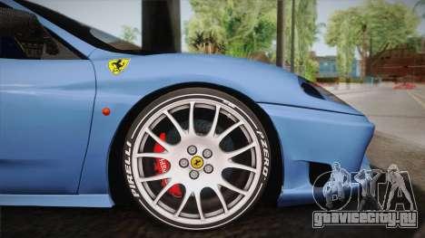 Ferrari 360 Challenge Stradale v3.2 для GTA San Andreas вид сзади