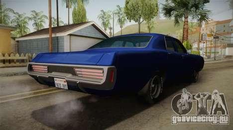 Dodge Polara 1971 для GTA San Andreas вид сзади слева