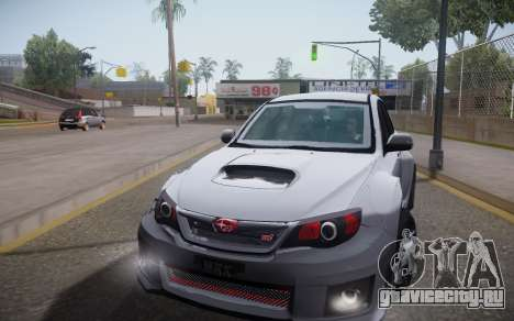 Subaru Impreza WRX STI 2009 TUNED для GTA San Andreas вид сзади слева