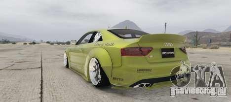 Audi S5 Liberty Walk для GTA 5 вид слева