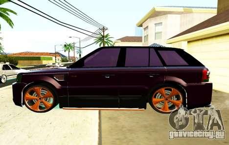 RANGE ROVER SPORTS 2008 для GTA San Andreas вид слева