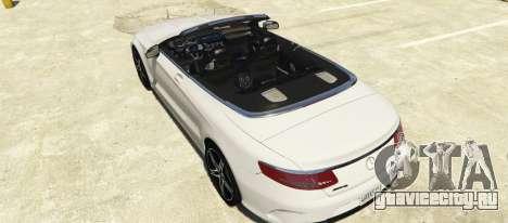 Mercedes-Benz S63 AMG Cabriolet для GTA 5 вид слева