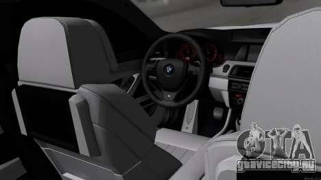 BMW M5 F10 Полиция для GTA San Andreas вид изнутри