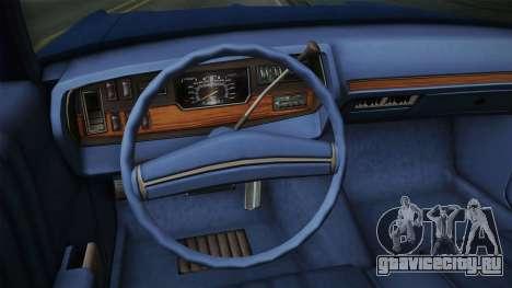 Dodge Polara 1971 для GTA San Andreas вид изнутри
