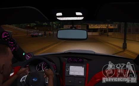 Subaru Impreza WRX STI 2009 TUNED для GTA San Andreas вид сзади