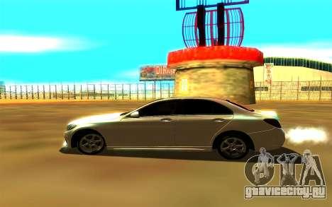 Mercedes-Benz C250 для GTA San Andreas вид сзади слева