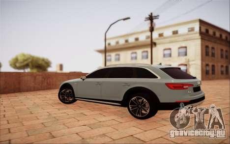 Audi A4 Allroad 2017 для GTA San Andreas вид сзади слева