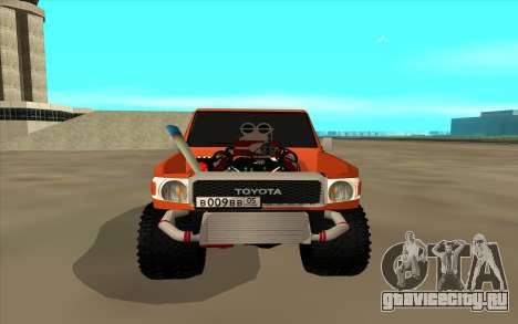 Toyota Land Cruiser для GTA San Andreas вид сзади слева