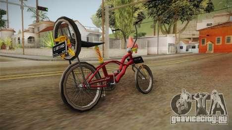 Bike Lowrider Thailook для GTA San Andreas вид сзади слева