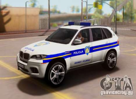 BMW X5 Croatian Police Car для GTA San Andreas
