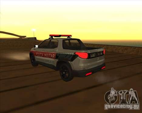 Fiat Toro Police Military для GTA San Andreas вид сверху