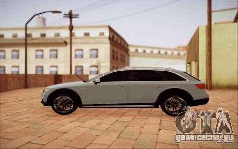 Audi A4 Allroad 2017 для GTA San Andreas вид слева