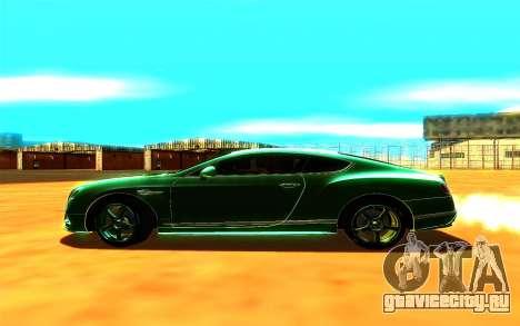 Bentley Continental GT для GTA San Andreas вид сзади слева