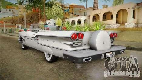 Pontiac Bonneville Hardtop 1958 HQLM для GTA San Andreas вид слева