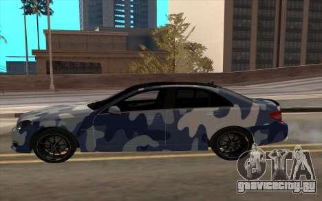 Mersedes-Benz C63 AMG для GTA San Andreas вид слева